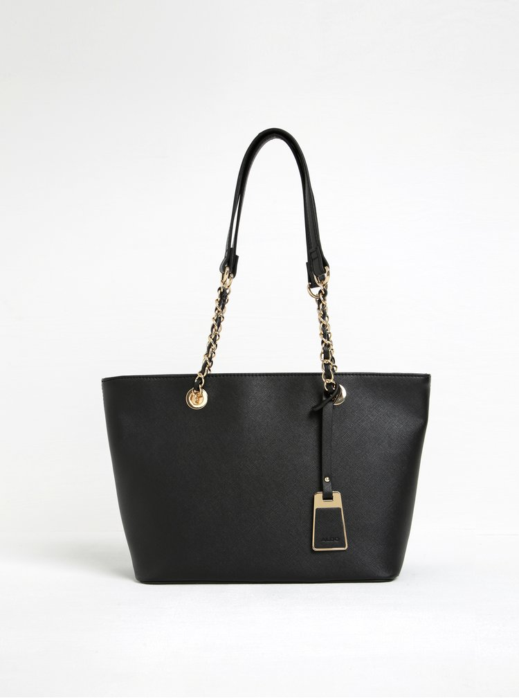Černá kabelka s detaily ve zlaté barvě ALDO Jambu
