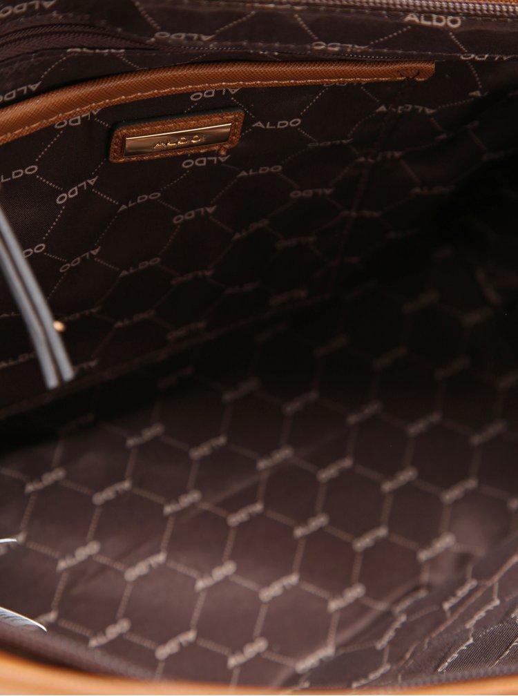Hnědá kabelka s detaily ve zlaté barvě ALDO Jambu