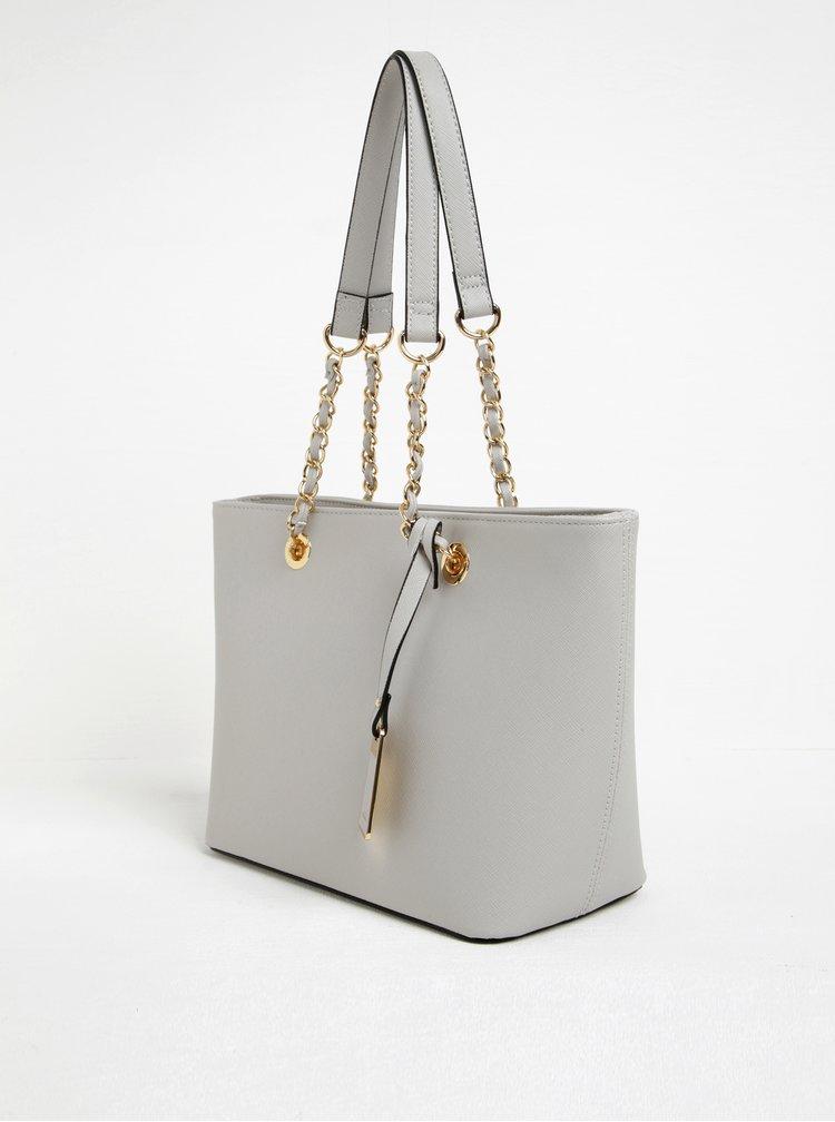 Světle šedá kabelka se zlatými detaily ALDO Jambu