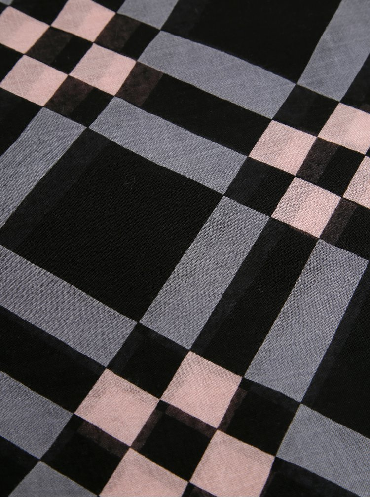 Šedo-černý dámský šátek Tommy Hilfiger Geo