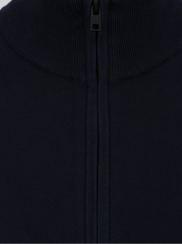 Tmavě modrý pánský kardigan Tommy Hilfiger Compact