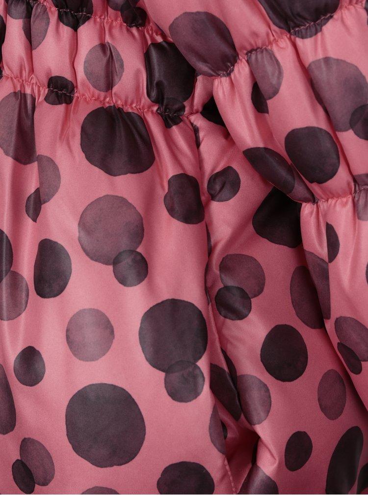 Růžová holčičí prošívaná puntíkovaná bunda Blue Seven