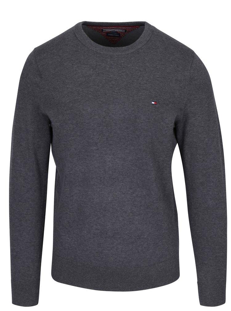 Sivý pánsky sveter Tommy Hilfiger Compact
