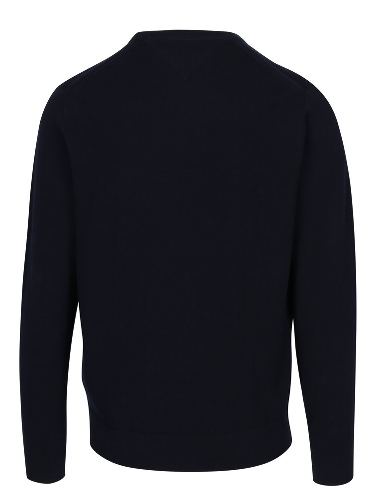 Tmavě modrý pánský svetr Tommy Hilfiger Compact