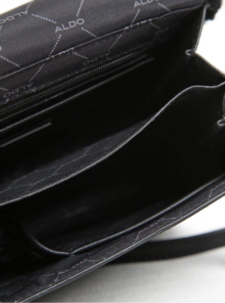 Geantă crossbody neagră cu blană artificială ALDO Moraine