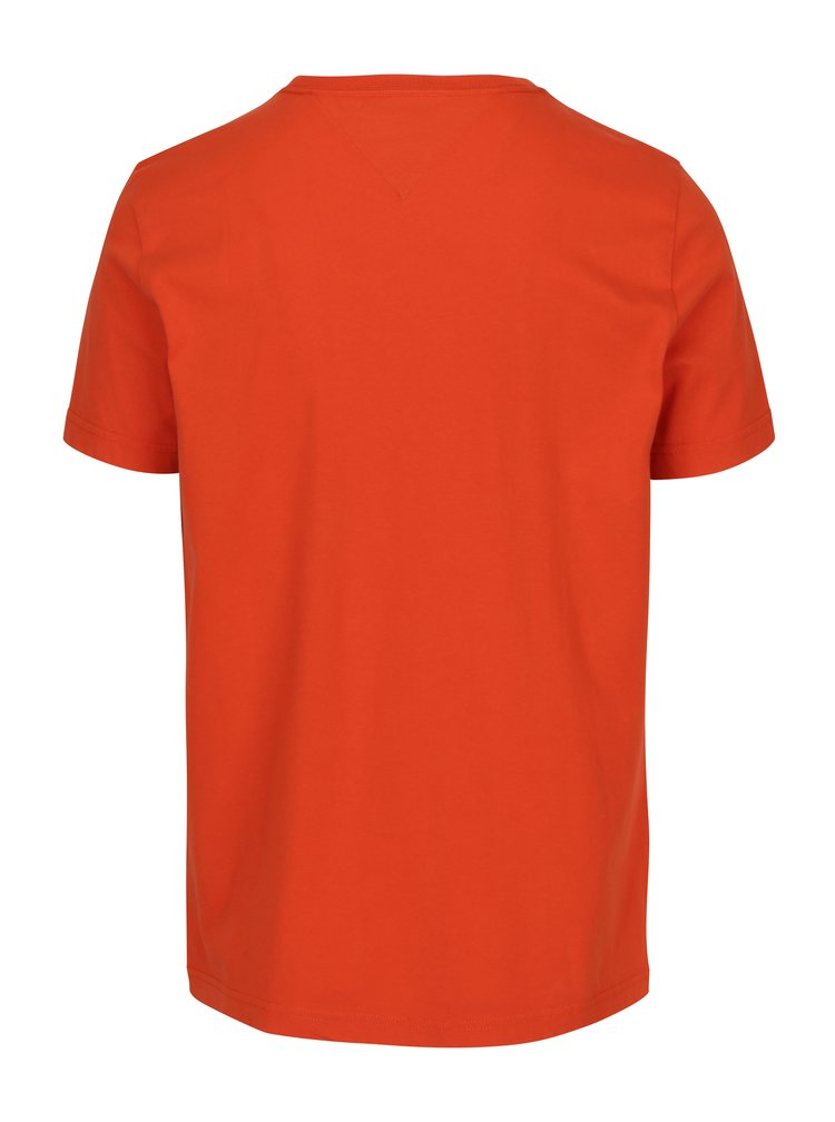 Oranžové pánské tričko s krátkým rukávem Tommy Hilfiger Chase
