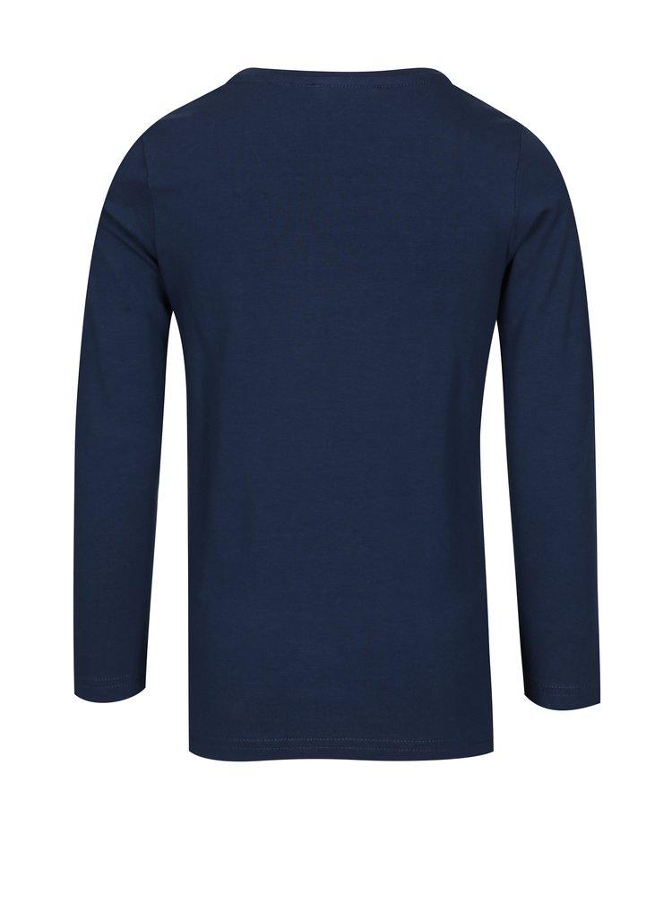 Tmavě modré holčičí tričko s potiskem a dlouhým rukávem  Blue Seven