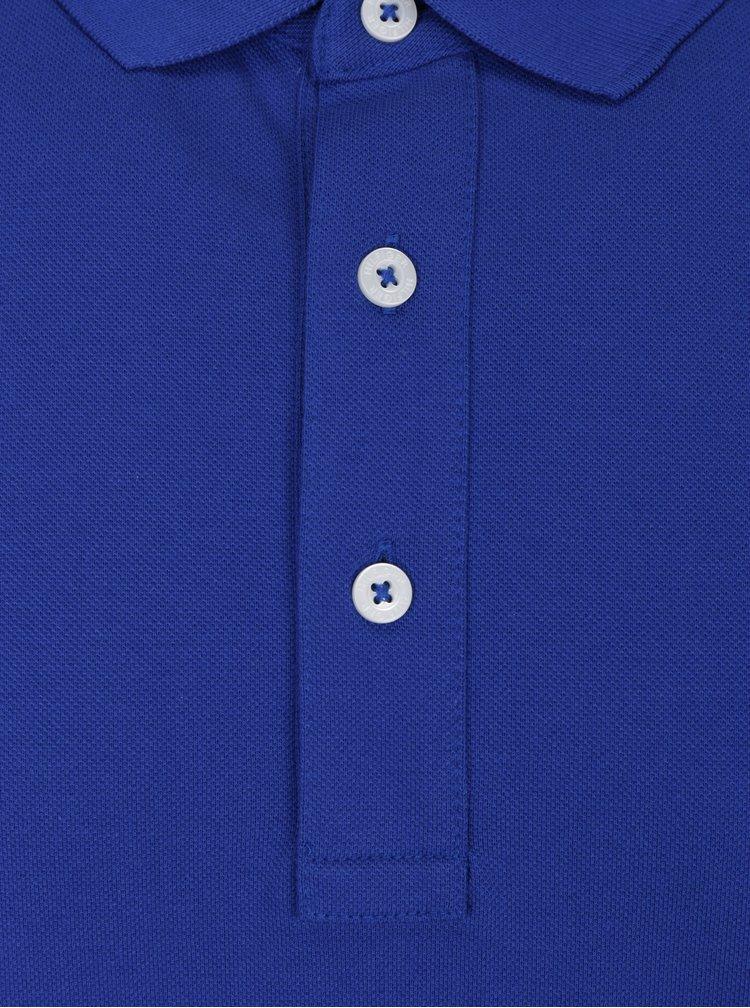 Modré pánské polo tričko Tommy Hilfiger Luxury