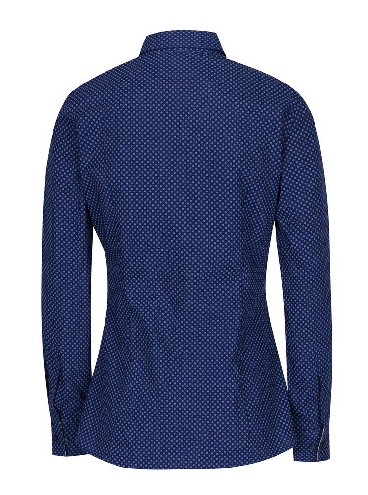 Camasa bleumarin cu buline pentru femei - VAVI