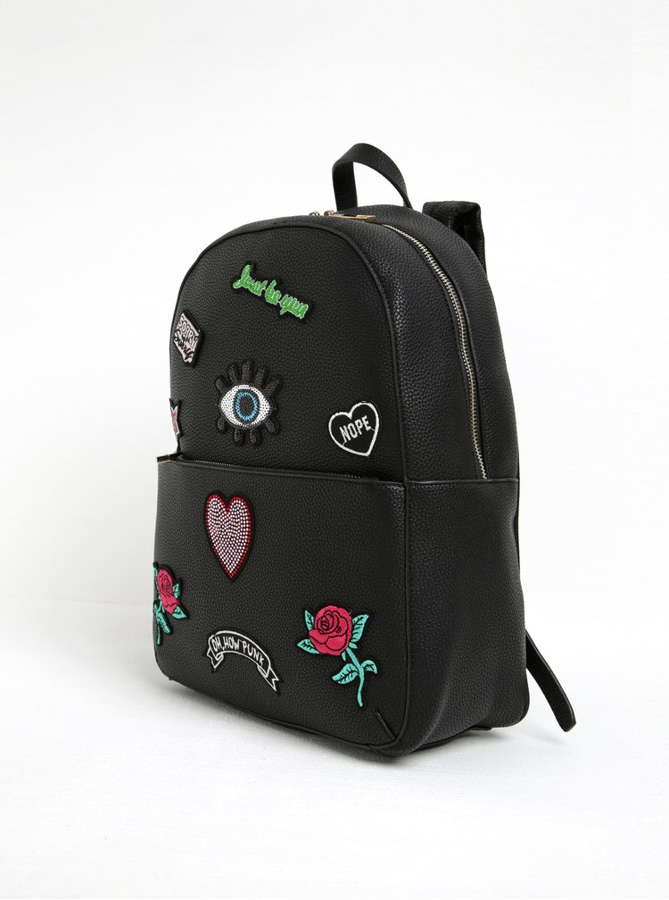 Černý batoh s nášivkami ALDO Weddingcake