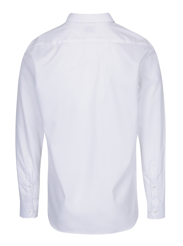 Bílá pánská formální košile VAVI