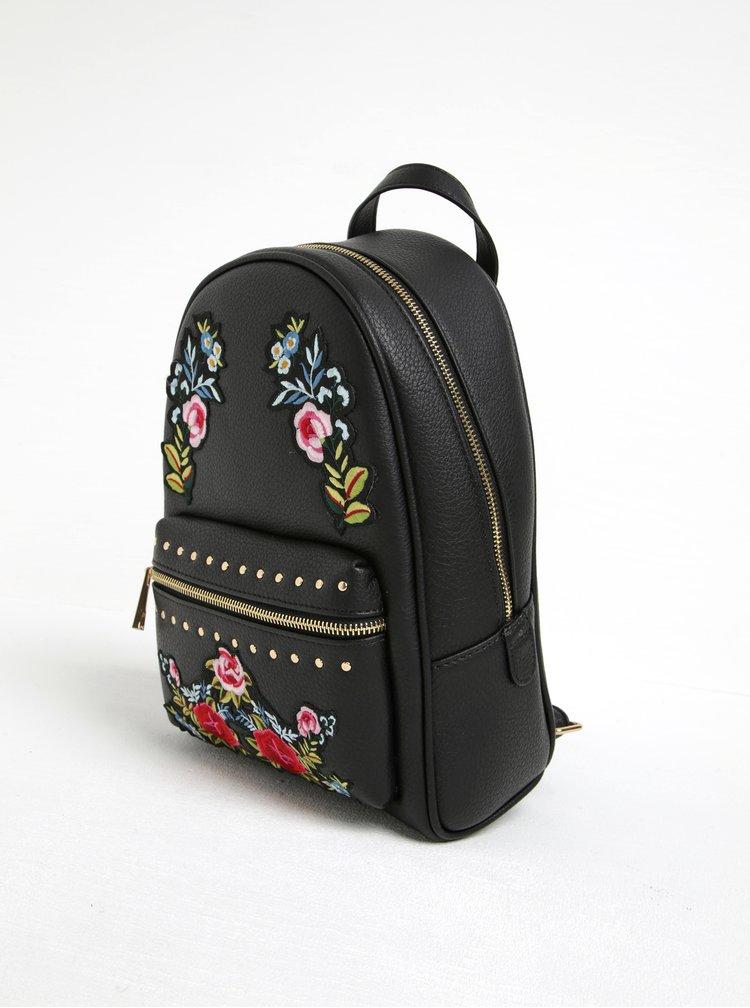 Černý batoh s nášivkou růží ALDO Dare