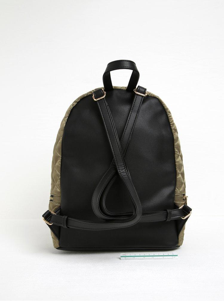 Khaki prošívaný batoh s nášivkami ALDO Eraynna