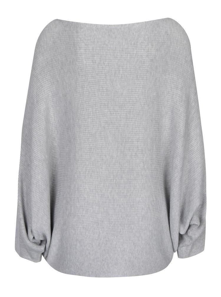 Světle šedý svetr s netopýřími rukávy Jacqueline de Yong House