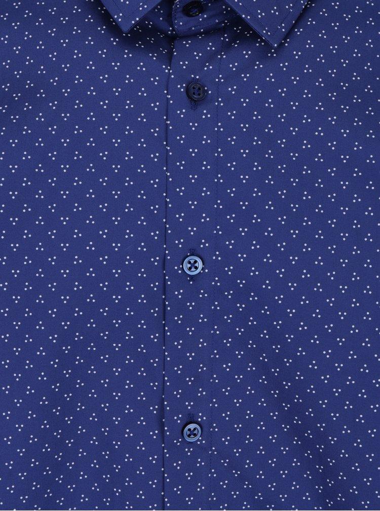 Camasa barbateasca albastru inchis - VAVI