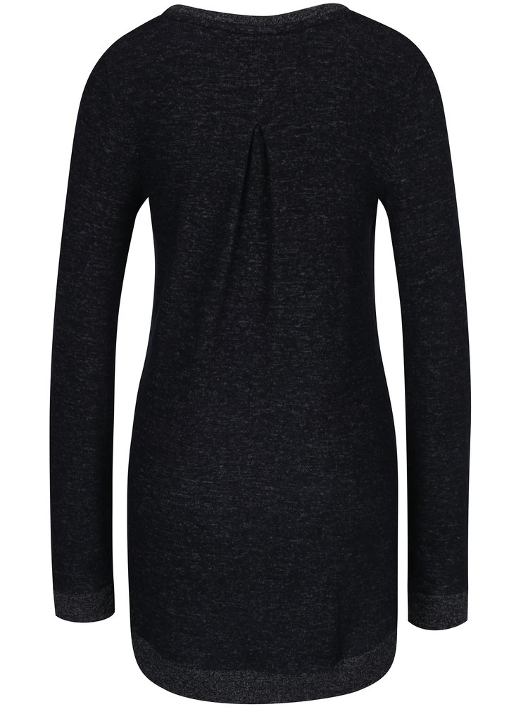 Tmavě šedý dámský dlouhý svetr s výšivkou Ragwear Nazca