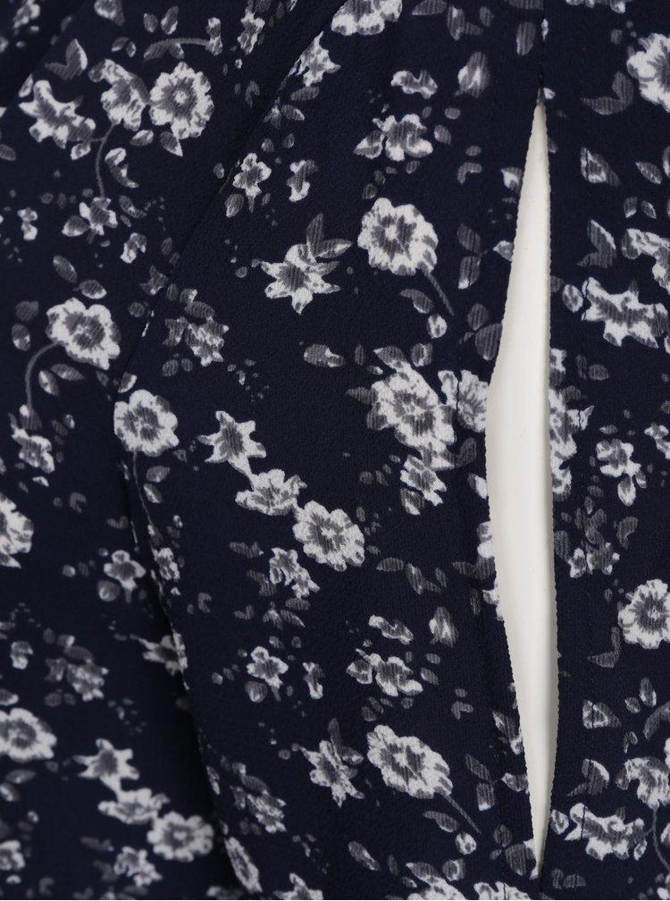 Rochie bleumarin cu print floral și decupaje Jacqueline de Yong Daya