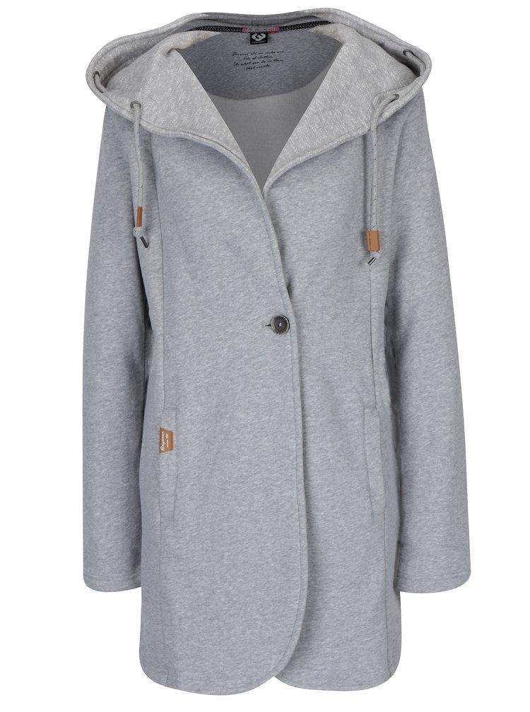 Jachetă subțire gri deschis cu glugă - Ragwear Brooke
