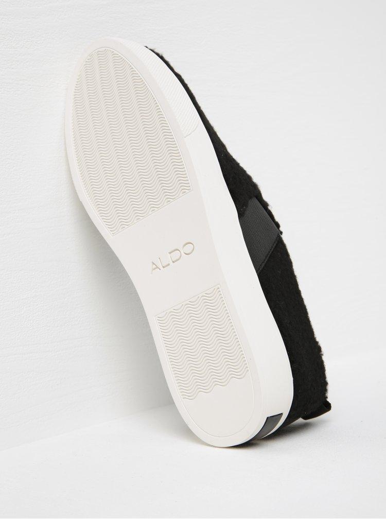 Černé dámské slip on na platformě ALDO Loveawen