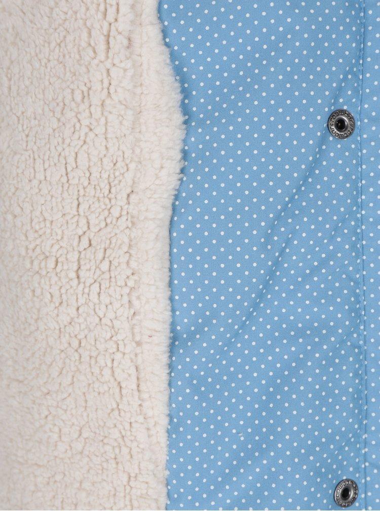 Světle modrá dámská zimní puntíkovaná parka Ragwear Laika Minidots