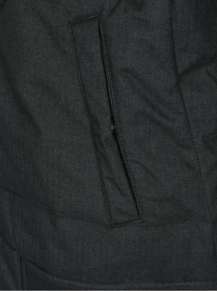 Geaca gri inchis matlasata impermeabila Ragwear Dockie pentru barbati