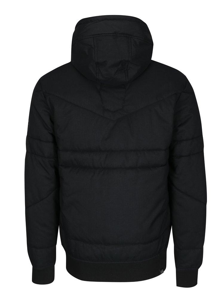 Černá pánská voděodolná prošívaná bunda s kapucí Ragwear Dockie