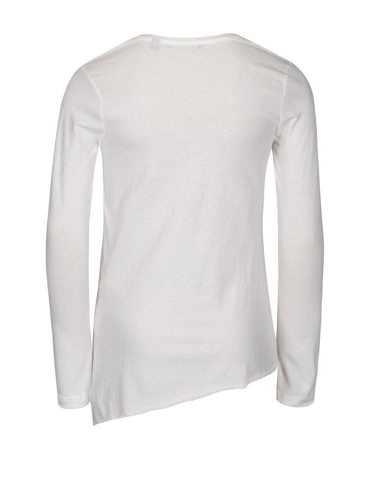 Krémové holčičí asymetrické tričko s potiskem Blue Seven