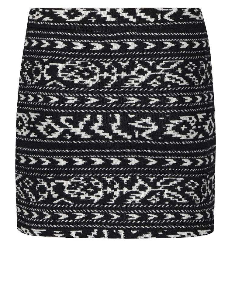 Krémovo-černá holčičí vzorovaná sukně Blue Seven