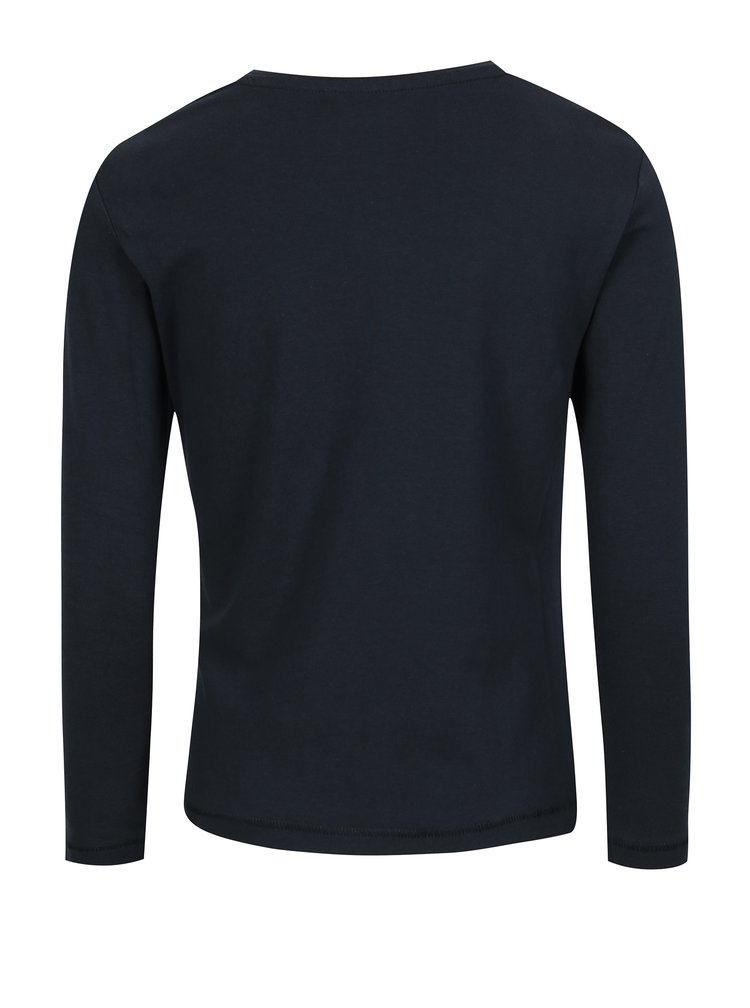 Tmavě modré holčičí tričko s potiskem name it Kendal
