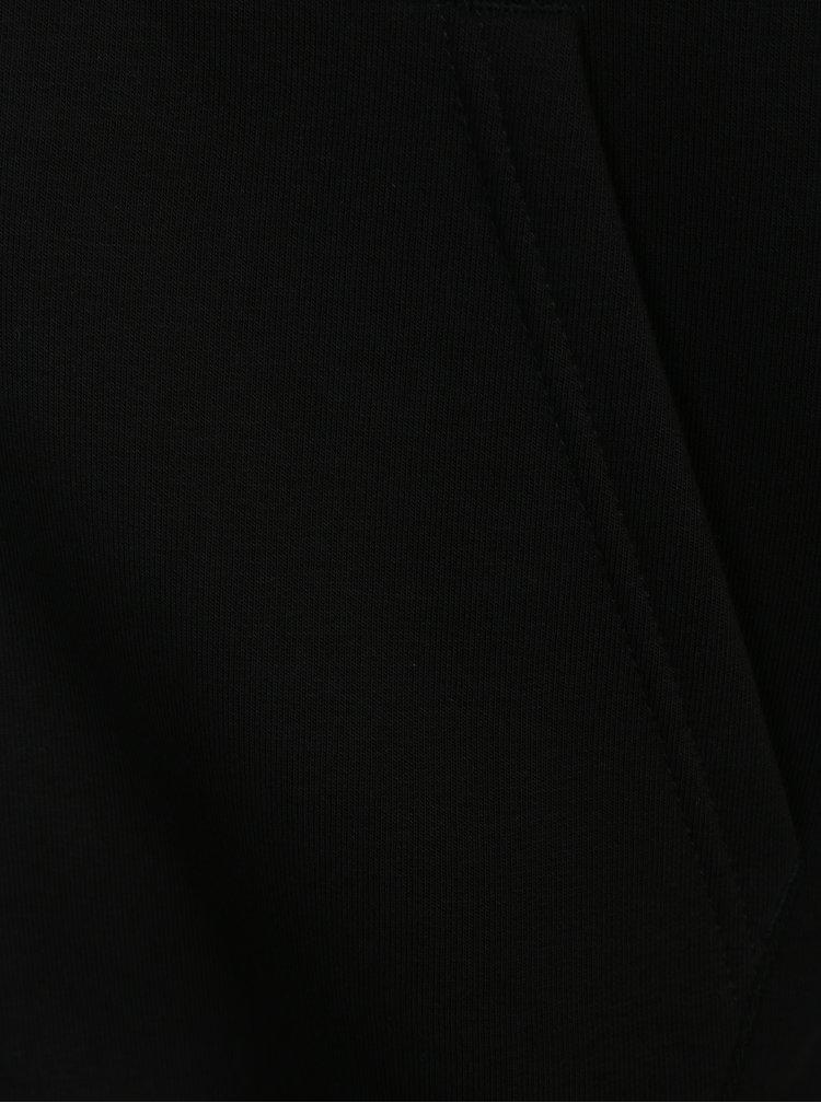 Hanorac negru cu inscripție reflectorizantă ALPHA INDUSTRIES