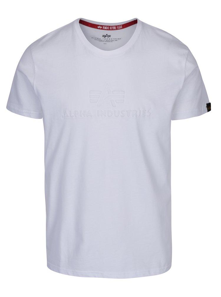 Bílé pánské tričko s krátkým rukávem ALPHA INDUSTRIES