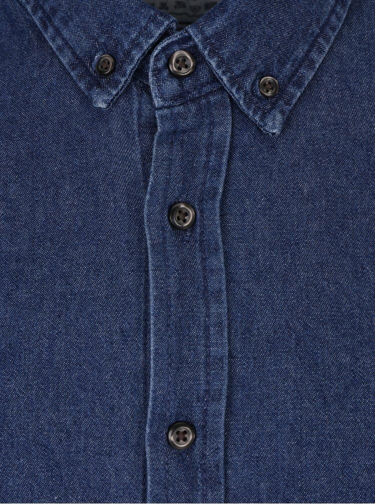 Cămașă albastră din denim pentru bărbați Kronstadt Johan
