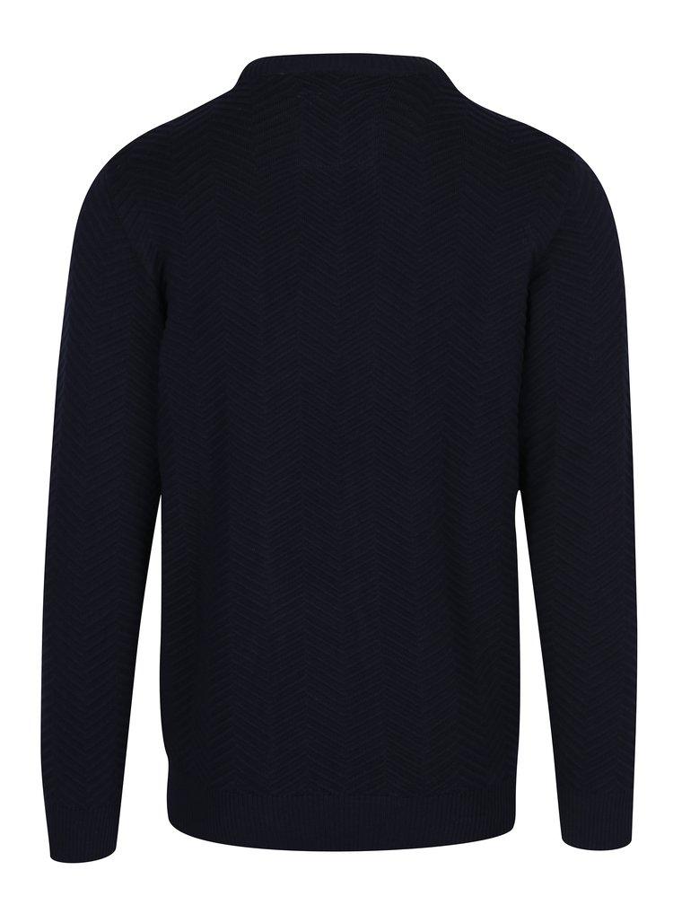 Tmavě modrý svetr se vzorem Kronstadt Carlo