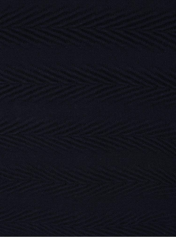 Tmavě modrý svetr se vzorem Kronstadt Claus
