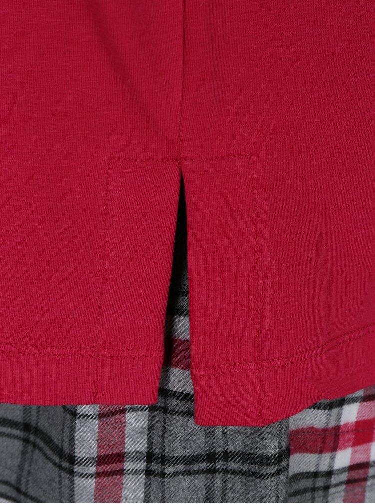 Růžové dvoudílné pyžamo a maska na spaní DKNY