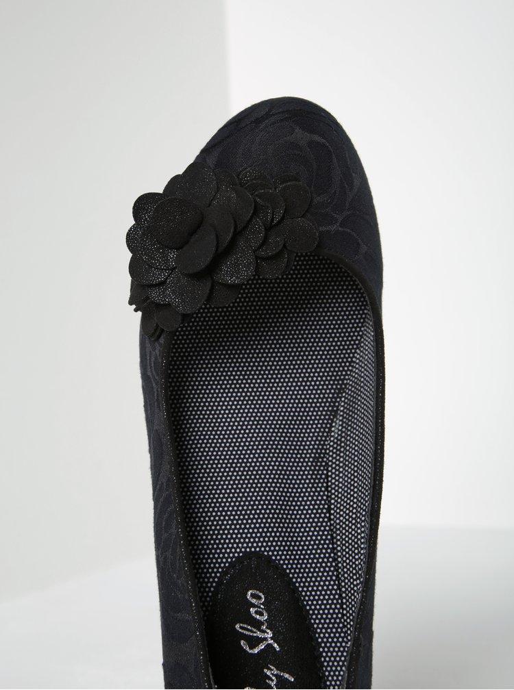 Pantofi negri cu toc si imprimeu floral -  Ruby Shoo Petra