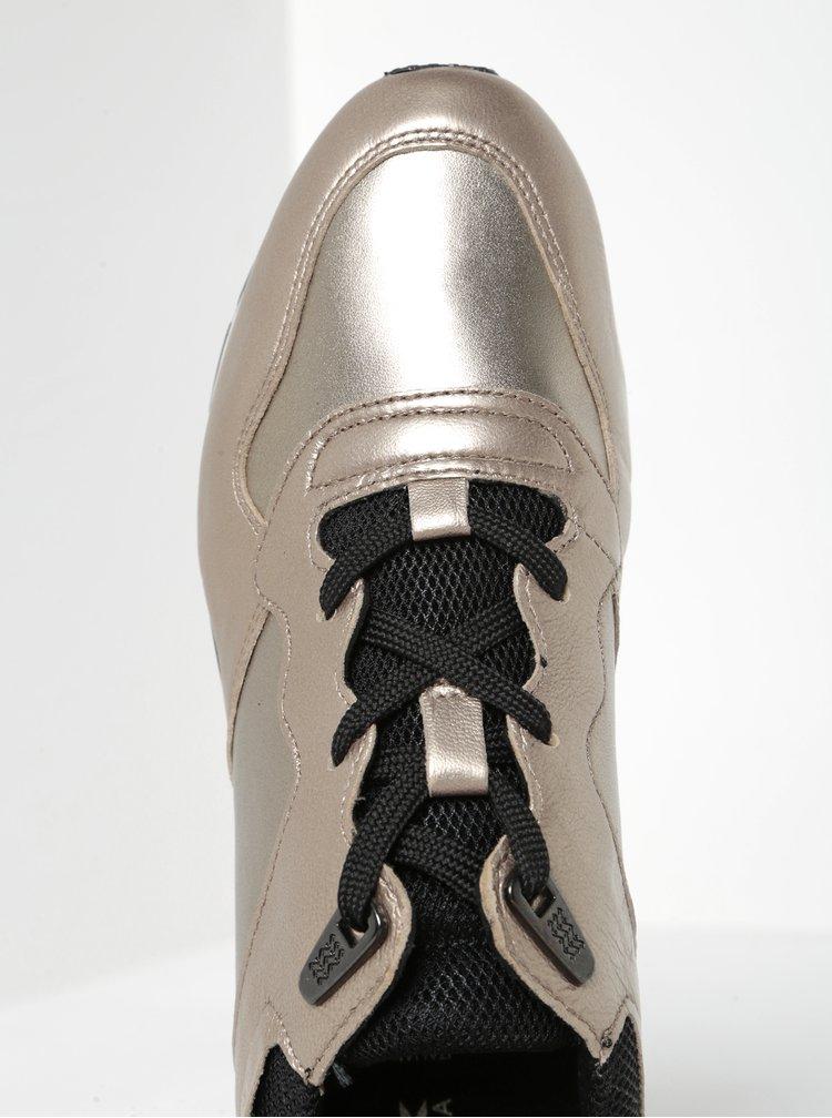 Metalické dámské kožené tenisky ve zlaté barvě Geox Shahira B