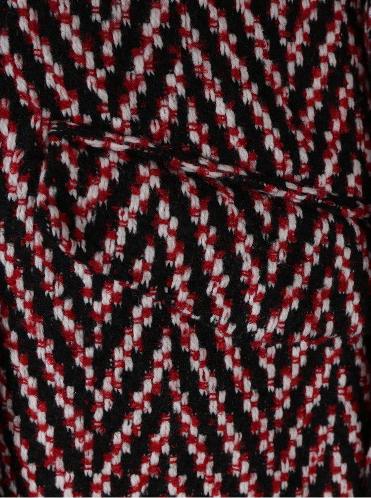 Červený vzorovaný kabát VERO MODA Paris