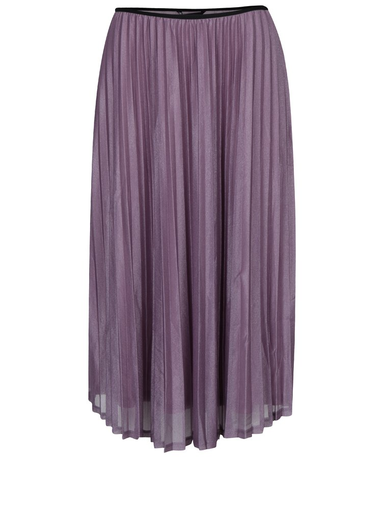 Světle fialová plisovaná sukně VERO MODA Glitzy