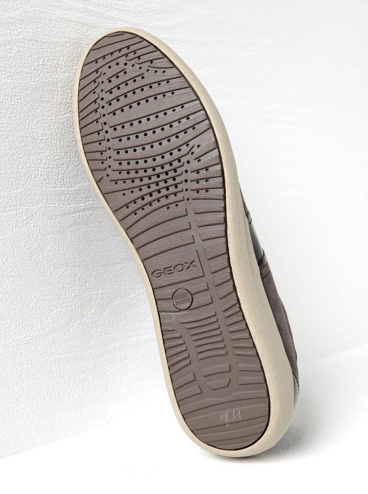 Hnědé semišové dámské tenisky s detaily Geox Myria