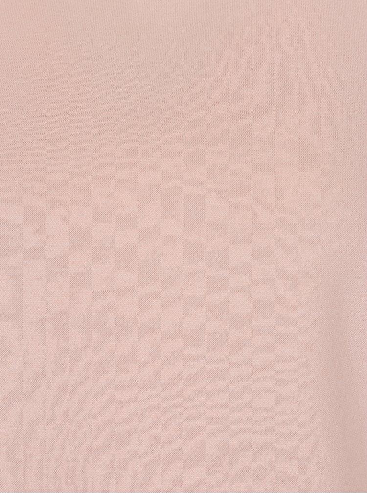 Růžová mikina s krajkovým detailem VERO MODA Bessie