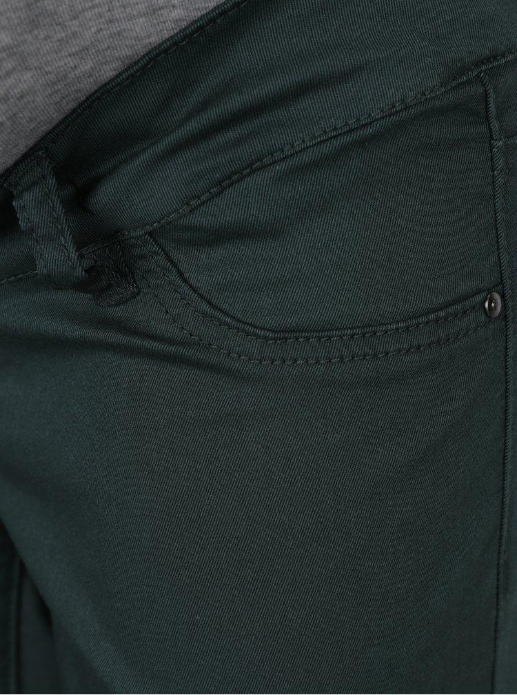 Šedo-zelené těhotenské skinny džíny Mama.licious Elly