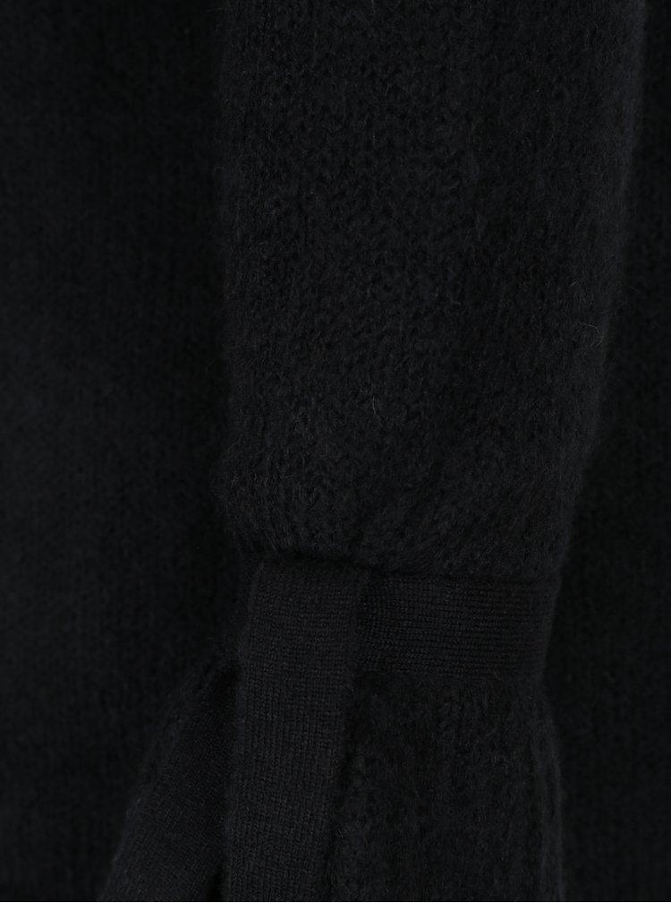Černý svetr se zvonovými rukávy VERO MODA Elina