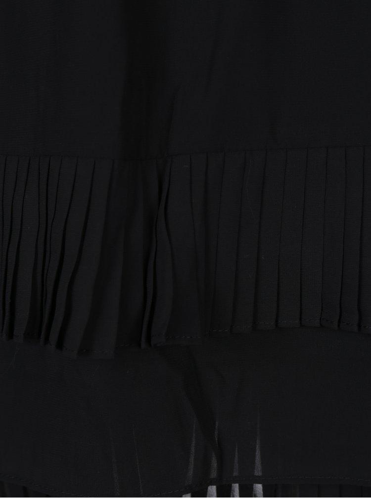 Černé šaty s průsvitným rukávem VERO MODA Freya