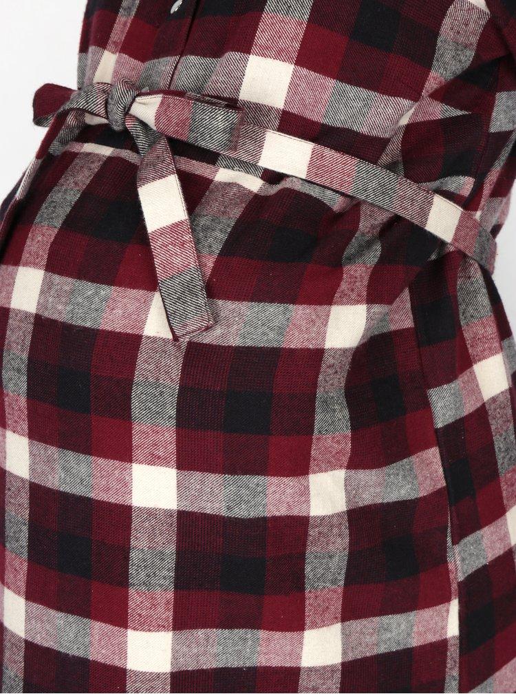 Rochie cămașă vișinie Mama.licious Shirty