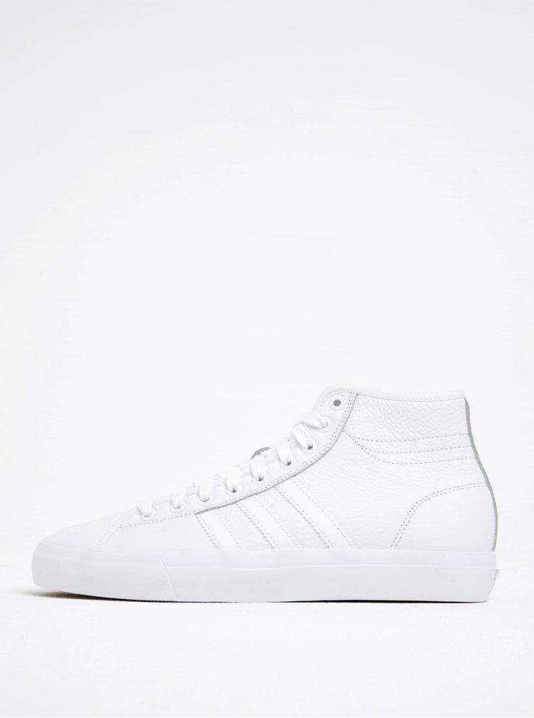 Bílé pánské kožené kotníkové tenisky adidas Originals Matchcourt High