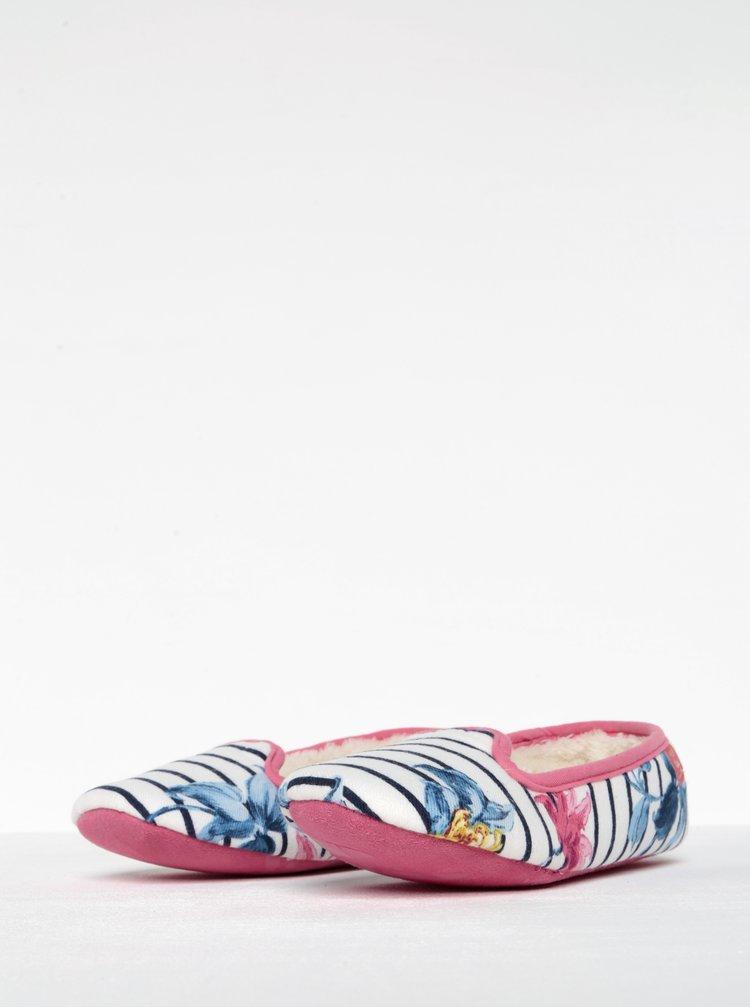 Papuci cu dungi si blanita artificiala - Tom Joule Dreama