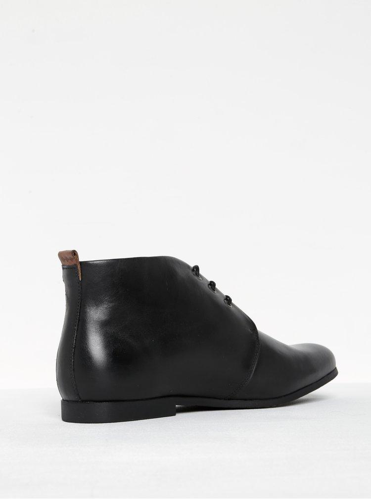Černé pánské kožené kotníkové boty Royal RepubliQ