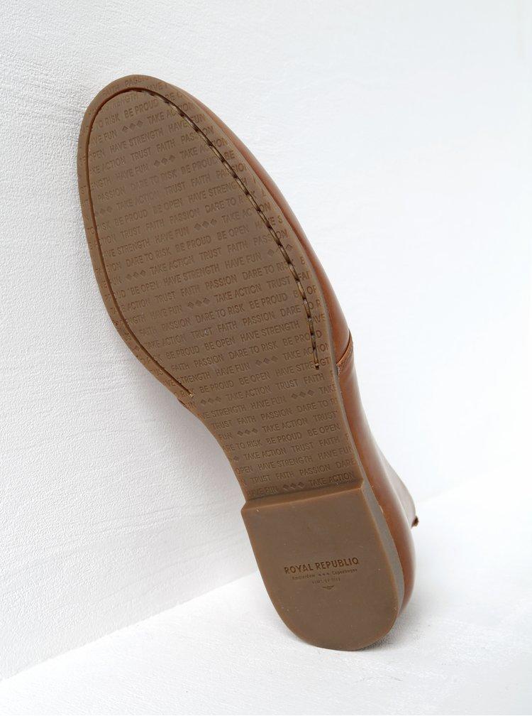Hnědé pánské kožené kotníkové boty Royal RepubliQ