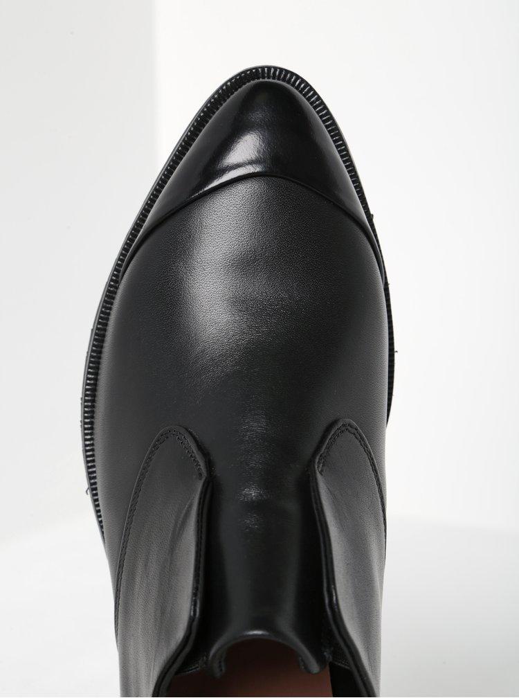 Černé dámské kožené mokasíny Royal RepubliQ